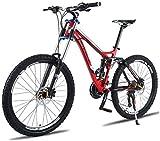 Wyyggnb Bicicleta De Montaña, Bicicleta Plegable Bicicleta De Montaña Unisex, 26 Pulgadas Marco De Aleación De Aluminio, 24/27 Velocidad Doble Suspensión De La Bici De MTB con Doble Freno De Disco