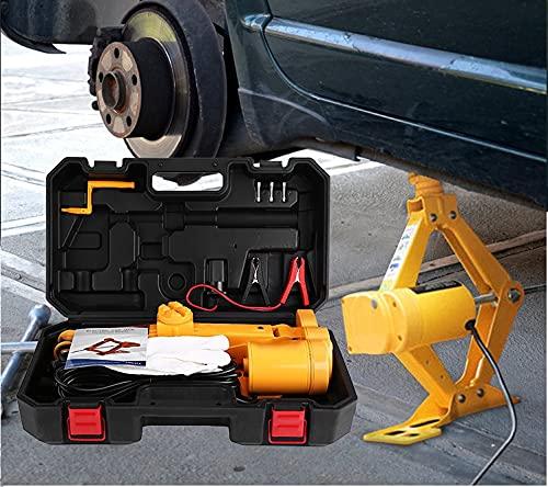 GOTOTOP Cric Elettrico,Sollevatore per Auto da 12 V,con Telecomando, Senza Fili,Altezza di Sollevamento 12 cm-37 cm e 17 cm-42 cm,2 T/3 T (2T)