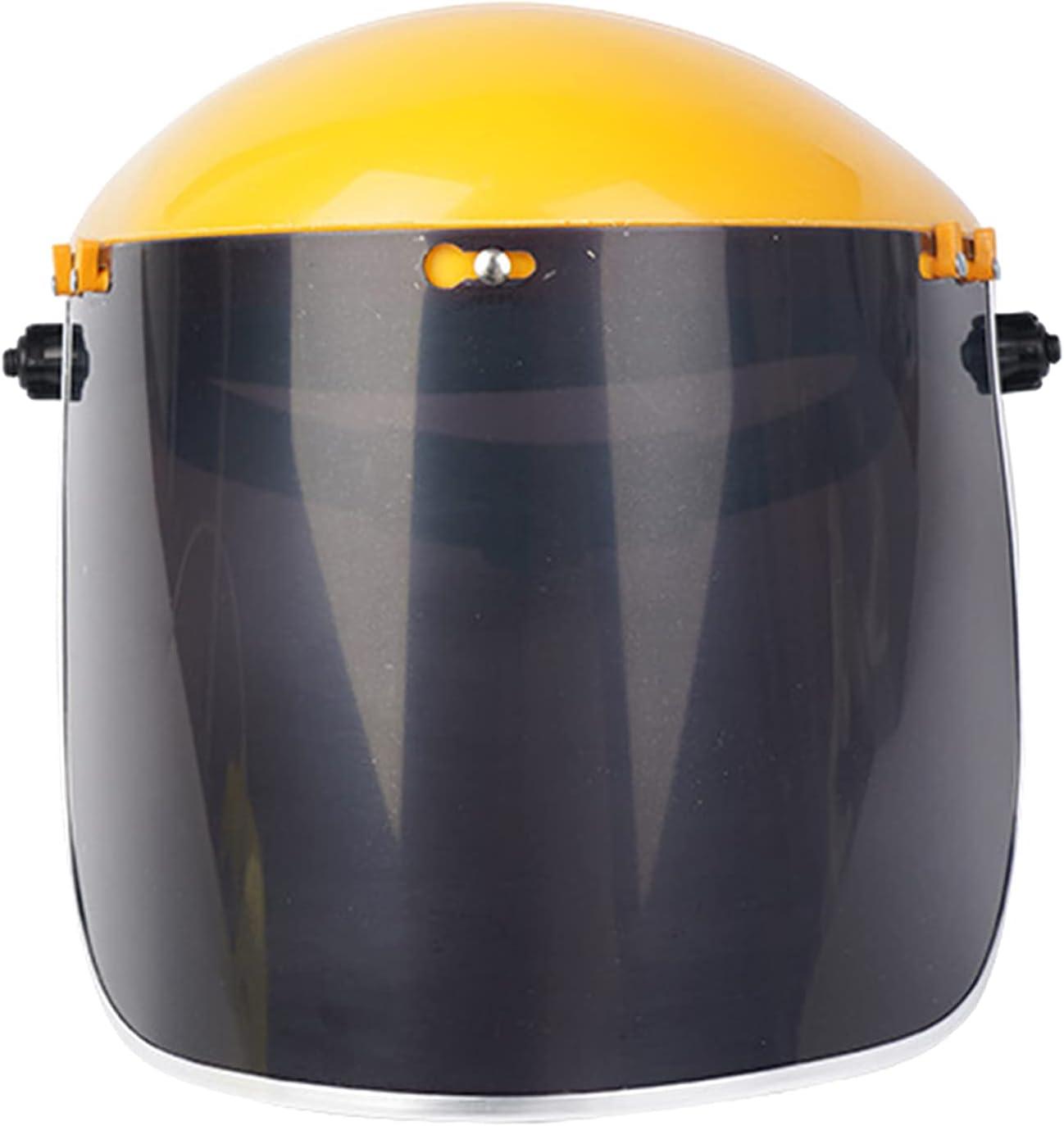 Baoblaze Capucha de casco de soldadura eléctrica de oscurecimiento automático de PVC, protección ocular para soldadura ARC/MIG/TIG de pulido - Amarillo