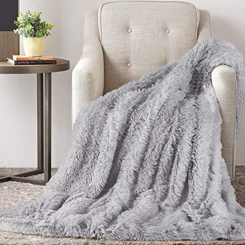 TAOCOCO Kuscheldecke Felldecke Wohndecke Microfaser Mikrofaserdecke Fleecedecke Sofadecke Tages Klimaanlage Decke Leicht für Couch Bett (Grau, 160 x 200 cm)