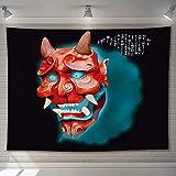 YMXMYJ Tapiz de Mandala máscara Decoración de Paredes para Hogar,Versátil y Decorativo,Pareo,Toalla de Playa,Sofá,Colcha,Cubrecama 150x130 cm