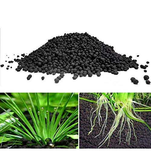 Womdee Aquarium Plant Substrate - Nature Fine Freshwater Planted Aquarium Substrate Soil, Decorative Aquarium Gravel, Creates a Natural Ecosystem for Your Aquarium Plant, Pack of 500 g