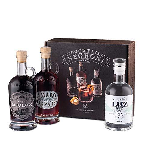 Marzadro - Set degustazione cocktail Negroni 3x20cl(Amaro+Gin Luz+Vermut Altolago)