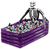 Inflatable Coffin Cooler Pool Beverage Ice Bucket Skull Fun Party Decoration Props Outdoor Sports Toys