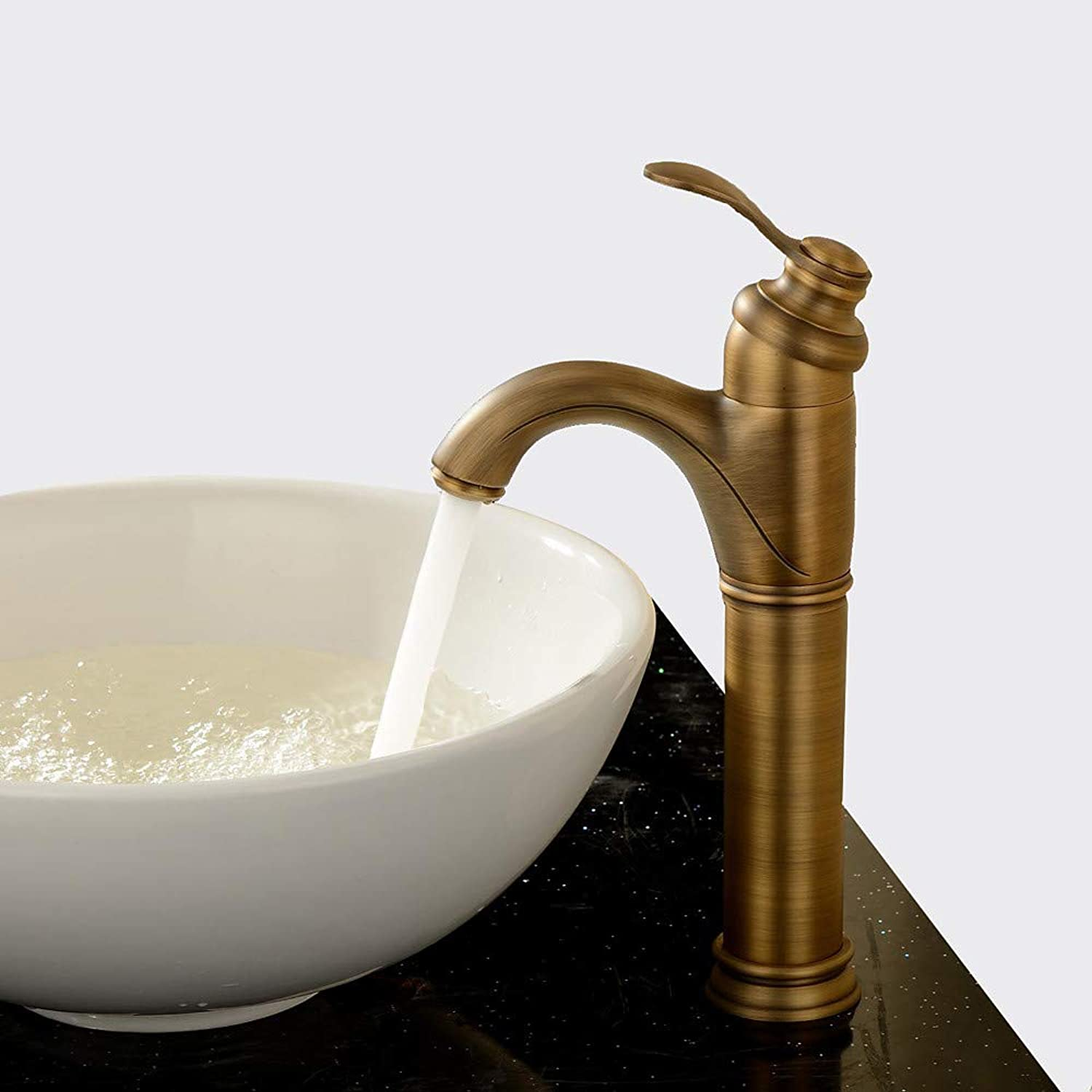 Tintin Bathroom Sink Faucet - redatable Antique Brass Centerset One Hole Single Handle One Hole