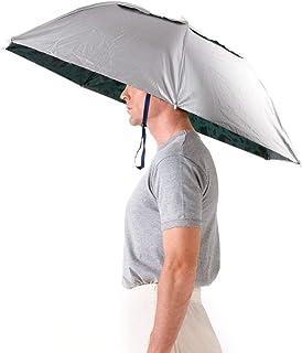 Aoneky Faltbare Angelschirm Regenschirmhut, Sonnenschutzkappe für Outdoor Aktivitäten Sport Golf Angeln Camping Mütze, Lustig/Witz Geschenk