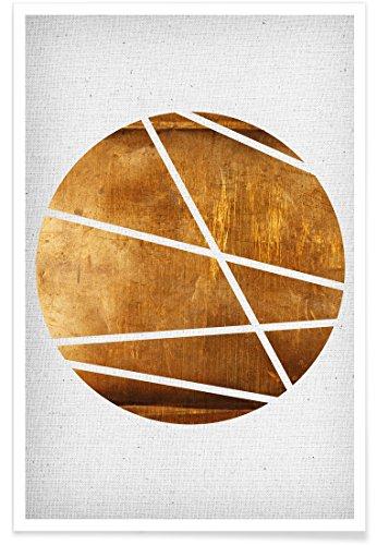 """JUNIQE® Poster 40x60cm Abstrakt & Geometrisch - Design """"Circle"""" (Format: Hoch) - Bilder, Kunstdrucke & Prints von unabhängigen Künstlern - Abstrakte und moderne Kunst - entworfen von Froilein Juno"""