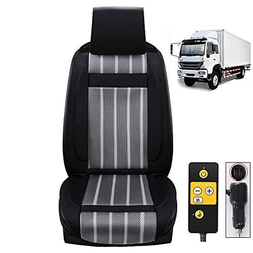 NBMNN Auto Sedile Protezione 12V/24V Ventilazione Massaggio Cuscino 5 velocità Regolazione Auto Coprisedile con Raffreddamento + Massaggio...