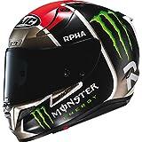 HJC Helmets Casco Moto Hjc Monster Rpha 11 Jonas Folger Mc1sf Nero (S, Nero)
