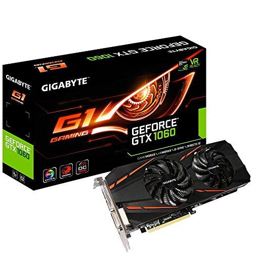 Gigabyte GV-N1060G1 GAMING-6GD grafische kaart 6 GB GDDR5, 2000 MHz zwart