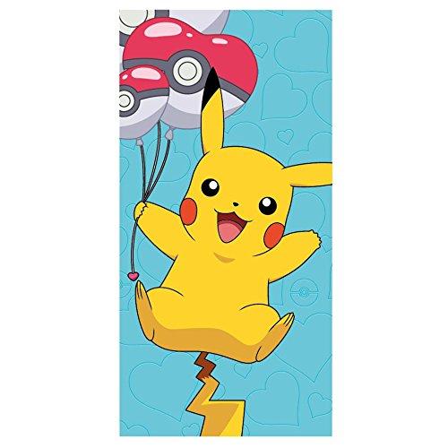 Pokemon-2200002392 Toalla Playa y Piscina, Estampado (Artesania Cerda 2200002392)