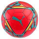 Puma teamFINAL 21.6 MS Ball Ballon De Foot Mixte Adulte, Red Blast-Spectra Green-Cyber Yellow Black White, 5