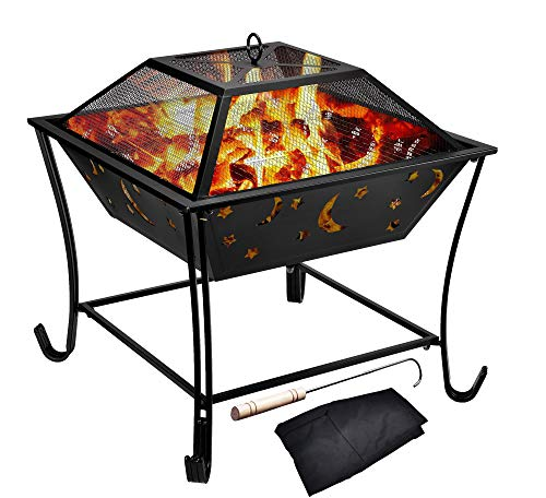 Kodycity Fire Pit Outdoor Wood Burning Pits Portable Table for Outside Patio Bonfire Campfire Grill...