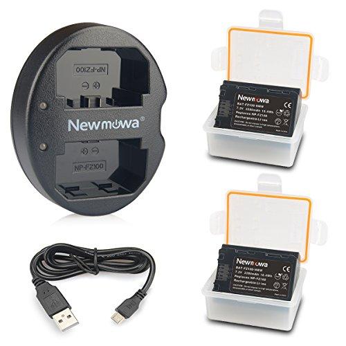 NP-FZ100 Newmowa Batería de Repuesto (2-Pack) y Kit de Cargador Doble para...