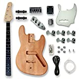 BexGears DIY Electric Guitar Kits For 5 String bass Guitar.Okoume Body