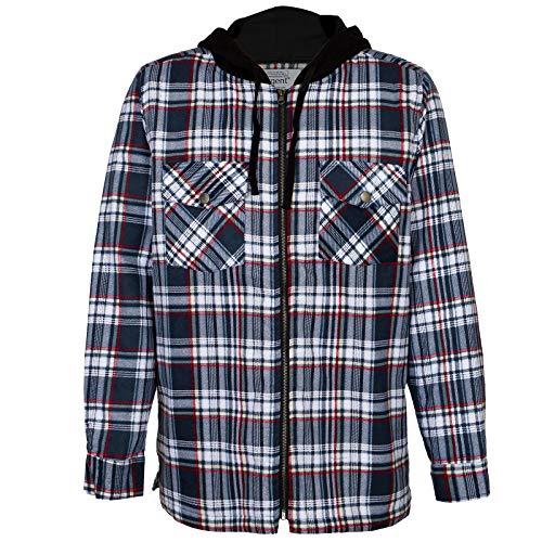 Reis Arbeitshemd Thermohemd Winterhemd Flanellhemd Holzfällerhemd Kaputze (URG-KAP) (XL)