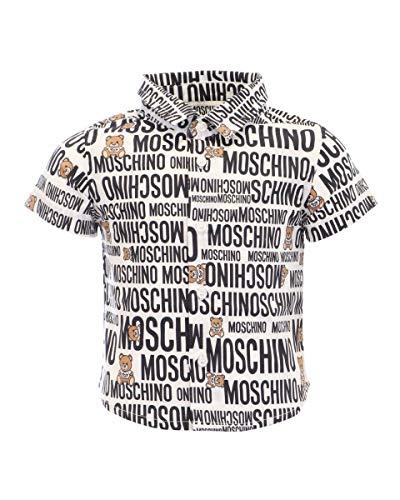 Moschino Hemd M/C für Kinder, bedruckt, Weiß 74 cm (9-12 Monate)