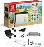 Newest Nintendo Switch Animal Crossing: New Horizons Edition 32GB Console - Pastel Green and Blue Joy-Con, 6.2
