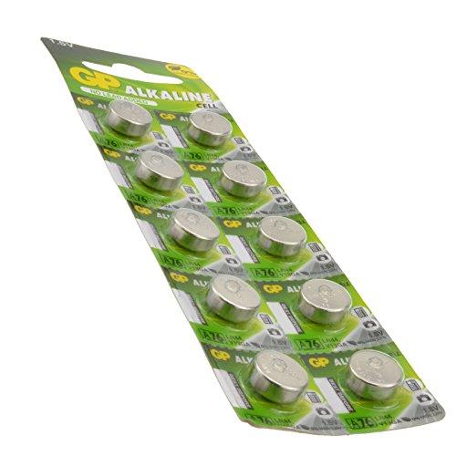 GP Alkalisch Cell Zelle Batterie LR44 a76 V13GA PX76A AG13 1,5v [10 Stück]
