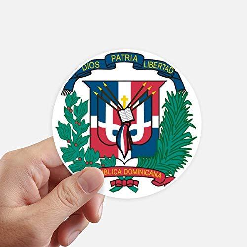 DIYthinker República Dominicana del Emblema Nacional del país Redondas 10cm Pared Maleta portátil Motobike Decal 8pcs Diámetro 10cm