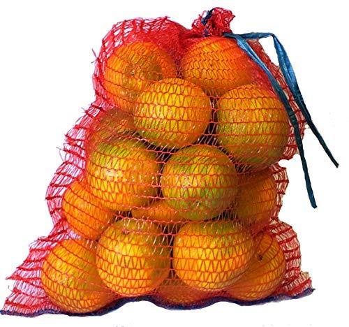VRYSAC - 200 sacos malla 32x44 raschel rojo, con cerrador, para 5kg de naranjas, cebollas o limones, caben unos 3kg de nueces