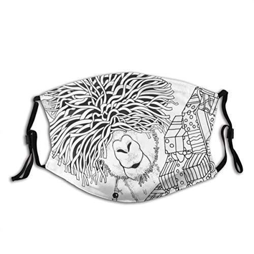 Winter Lama und Geschenkboxen Malbuch Seite für Erwachsene und Kinder im Gekritzel Sturmhaube Unisex Bandana Kopfbedeckung Gesichtsdekorationen FA-Ce Co-Ver FA-Ce Mas-Ke Mit Filtern