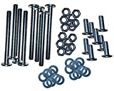 Lussuoso Furniture 64 PCS Set Hardware for Universal Modi-Plate Bed Frame Adapter/Connector, Heavy Duty Hardware for Bed Frame Modification to Connect Headboard and Footboard, Steel Bracket