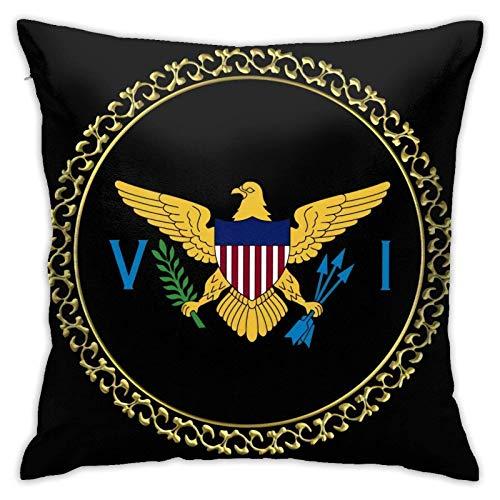 suichang Us Virgin Islands Flag Kissenbezüge Sofa Home Decor 18 × 18inch