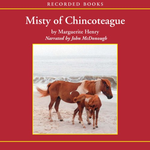 Misty of Chincoteague audiobook cover art