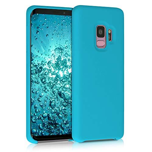 kwmobile Funda Compatible con Samsung Galaxy S9 - Funda Carcasa de TPU para móvil - Cover Trasero en Azul Turquesa