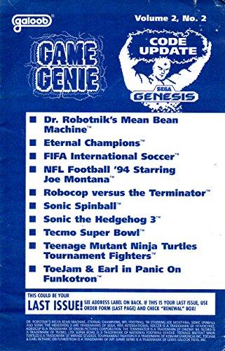Game Genie Codebook Update for Sega Genesis - Volume 2 Number 2 (Supplement code update booklet with additonal codes not in original manual) (Game Genie Code Update) [Paperback] [1994] Galoob
