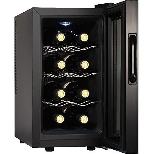 Syntrox Germany 8 Flaschen Digitaler Getränkekühlschrank WK-25L-8-3 Weinkühlschrank mit Touch Screen