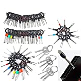 LOPP 76Pcs Release Pin Ejector Extractor Terminal Kit, Connector Puller Automotive, Auto Terminals Removal Key Tool Set for Most Connector Terminal Car 76pcs Sets