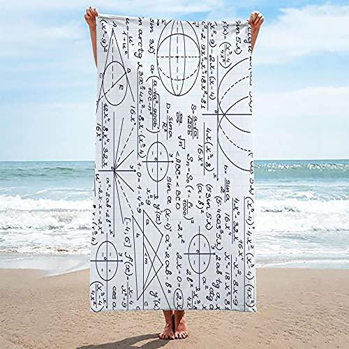 QHDHGR Toallas de Playa 3D Impresión Blanco y Negro y patrón geométrico Toalla Baño, Adulto Secado Rápid Toalla Manta para Hombre Hembra Playa Surf Natación 80 x 160 cm
