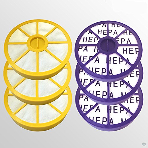 3 Pre Filtre Moteur et 3 Post Moteur Allergy Hepa Kit filtre pour Dyson DC05 DC08 Aspirateur