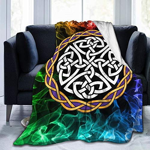 YGD-njs Irish Shield Warrior Celtic Cross Knot Soft and Warm Throw Blanket Plush Bed Couch Living Room Fleece Blanket 50'x40'60'x50'80'x60'