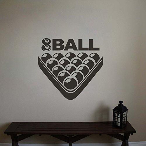 Billiard Room Wandtattoo Billiard Art Poolroom Aufkleber Brauch Spielzimmer Wand Aufkleber (Medium,Tomato Red)