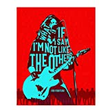 """Foo Fighters-""""What If I Say I'm Not Like the Others""""-The Pretender Song Lyrics Wall Art-8 x 10' Rock Music Poster Print-Ready to Frame. Modern Home-Office-Studio-Bar-Cave Décor. Perfect for Foo Fans!"""