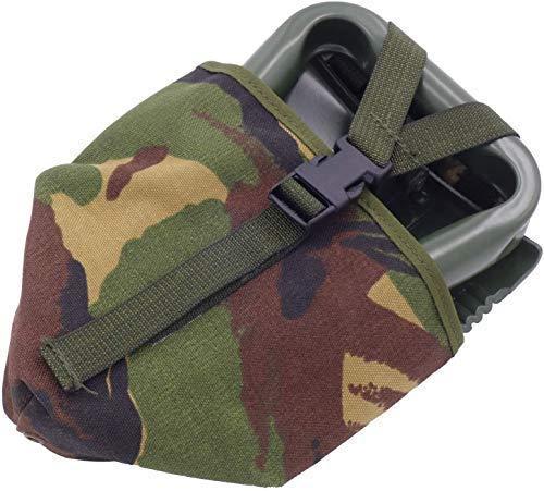 BW Klappspaten EXTRA STABIL mit Nylon-Tasche oliv - grün, vglb. Bundeswehr / US Army Militär Schaufel / Feldspaten / Spaten aus dem Metall Stahl - Ideal für Outdoor, Camping, Survival und Jagd. Original Inet-Trades Produkt
