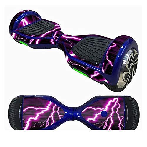 Selbstbalancierender Aufkleber für Roller, wasserfest, selbstbalancierend, mit 2 Rädern, für Roller, Skate, Board, Hoverboard, 16,5 cm, violett