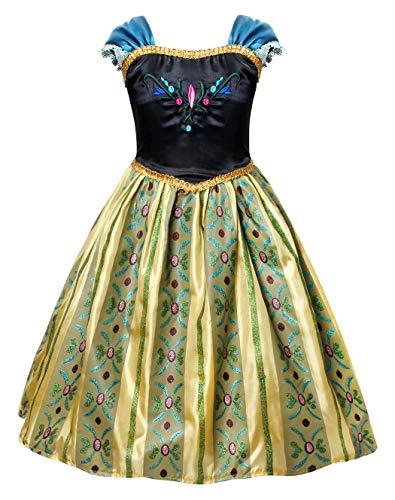 AmzBarley Costume Vestito da Ragazza Bambina Principessa Abito Festa Cosplay Compleanno Partito Carnevale Vestiti Spettacolo Vacanza Abiti