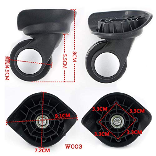 1 ペア スーツケースに使える代用品 交換 ホイール静音 キャスター スーツケースキャリーボックスなどの車輪補修用 取替え 代用品 取替え DIY トラベルバッグラゲッジ修理 交換 (W042 大きい 黒い)
