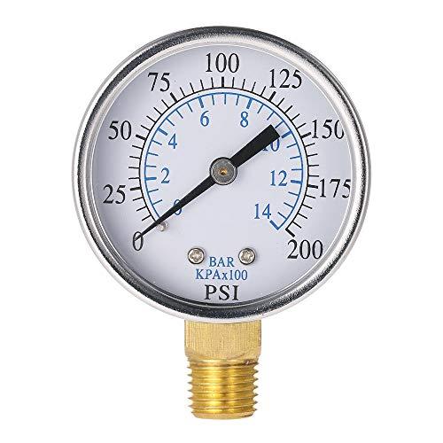 CCChaRLes Ts-50-14 Misuratore Di Pressione 0-200Psi 0-10Bar
