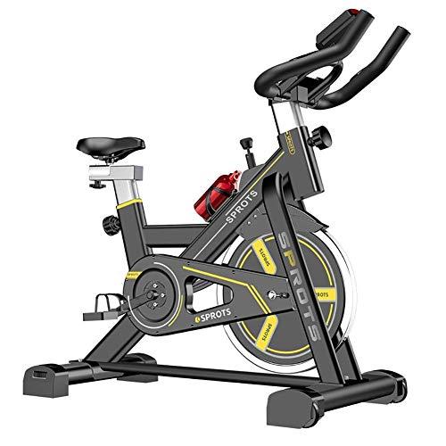 Bicicleta de ejercicio Bicicleta de ciclismo de interior Bicicleta de ejercicio de oficina en casa, con resistencia a la velocidad, Equipo de fitness para perder peso, Amarillo (deporte de interior)