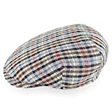 Belfry Made in Italy Bruano Flat Cap Mens Ivy Newsboy Cotton Linen Multi Colors (Large, Multi)