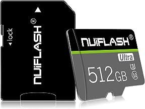 کارت حافظه Micro SD کارت حافظه 512 گیگابایت ، کارت حافظه TF کارت 512 گیگابایت کلاس 10 فلش مموری SD با آداپتور برای موبایل ، تبلت ، دوربین (512 گیگابایت)