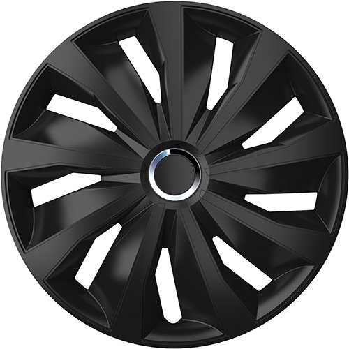 ZentimeX Z778473 Radkappen Radzierblenden universal 15 Zoll black