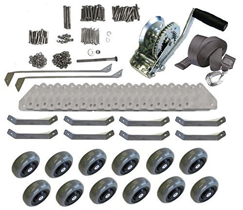 Custom Install Parts WaveRunner Jet SKi Boat Watercraft Shore Lift Ramp Dock Caster Wheel Kit Set