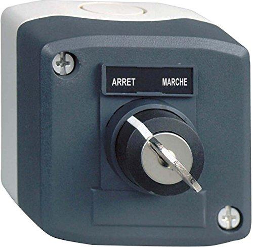 Schneider Electric XALD142 Harmony Caja con 1 Pulsador Giratorio, 22 mm Diámetro de la llave, Interruptor Llave 'Ciclo de Potencia' 1