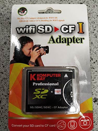 KOMPUTERBAY Slim CF Adapter SD SDHC SDXC WiFi-SD eyefi to Type I Compact Flash CF Card …